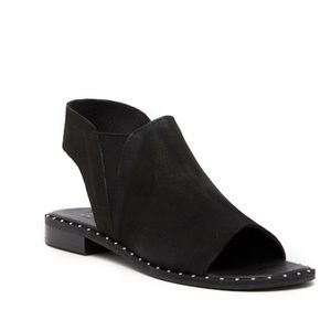 LF / LIFE BLACK STUDDED TWISTED SANDAL 9